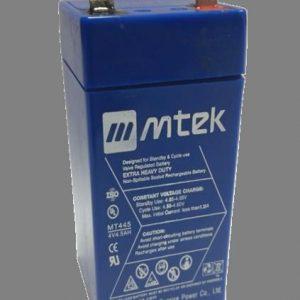 BATERIA SELLADA VRLA AGM MTEK 4V 4.5 A BLUE