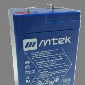 BATERIA SELLADA VRLA AGM MTEK 6V 4.5 A BLUE