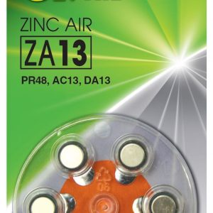 PILA AUDITIVA GP ZA13 ZINC AIR 1.4 V 230 MAH BLISTER X6