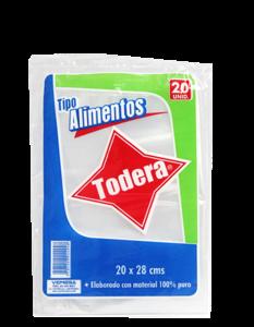 BOLSA ALIMENTOS 20CMX28CM TODE*20UD (60)