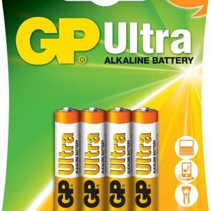 PILA ALCALINA GP ULTRA AAA 1.5V BLISTER X4