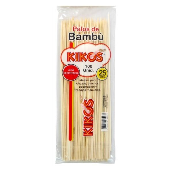 PINCHO BAMBU KIKOS *25CM BOLSA *100 UND