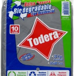 BOLSA BASUR BIODEG GRIS*10 (65x80) (50)