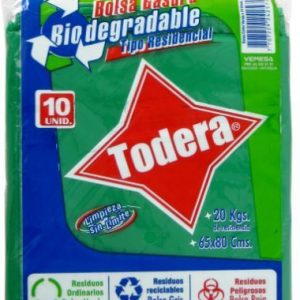 BOLSA BASUR BIODEG VERDE*10 (65x80) (50)